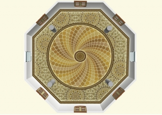Y-walls Design_Crafted Dome_Interiors_Interior Design_Art Installation_Ministry Of External Affairs_Delhi_India